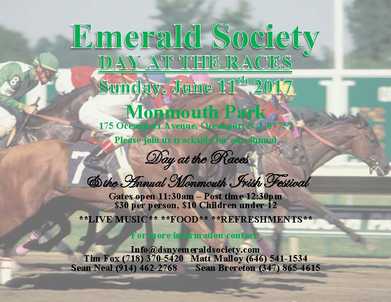 Day At The Races / Monmouth Irish Festival @ Monmouth Park  | Oceanport | New Jersey | United States