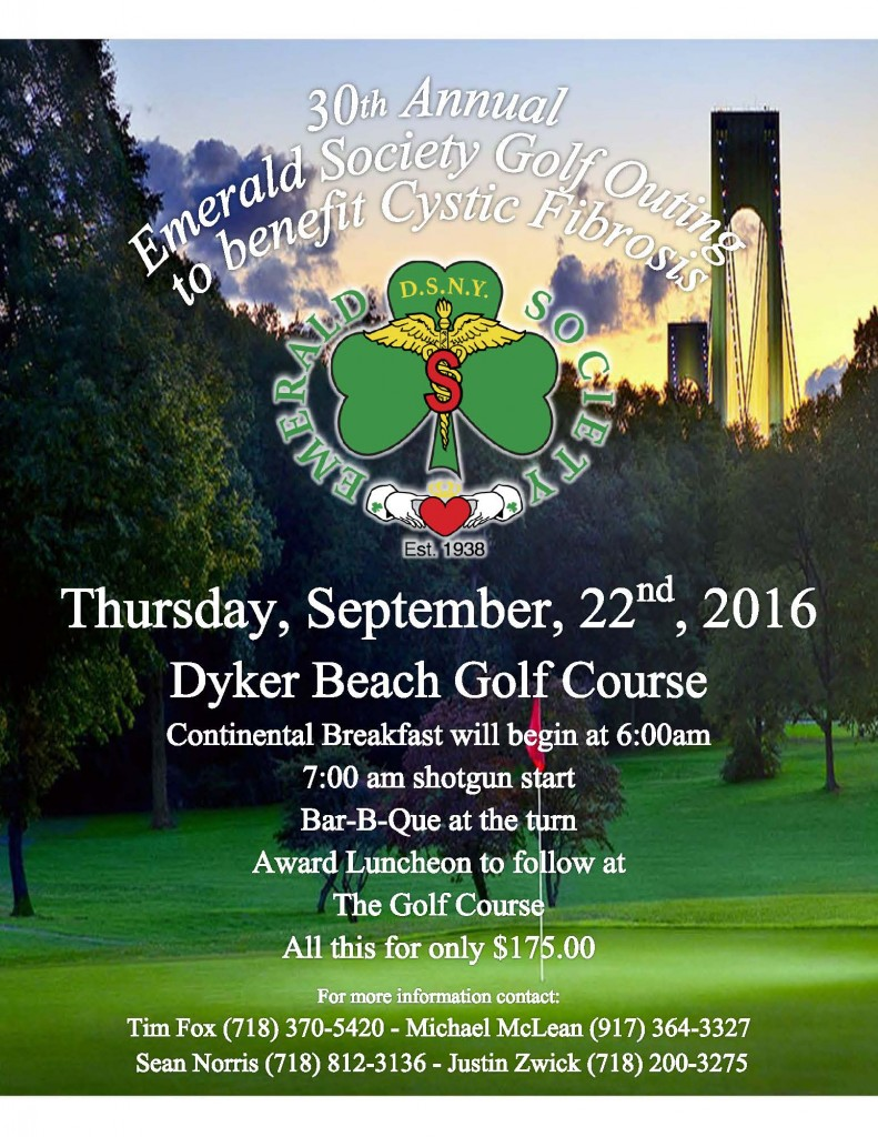 Emerald Society 30th Annual Charity Golf Outing