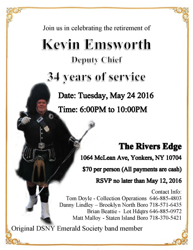 Retirement Party Honoring DC K Emsworth 5 24 2016