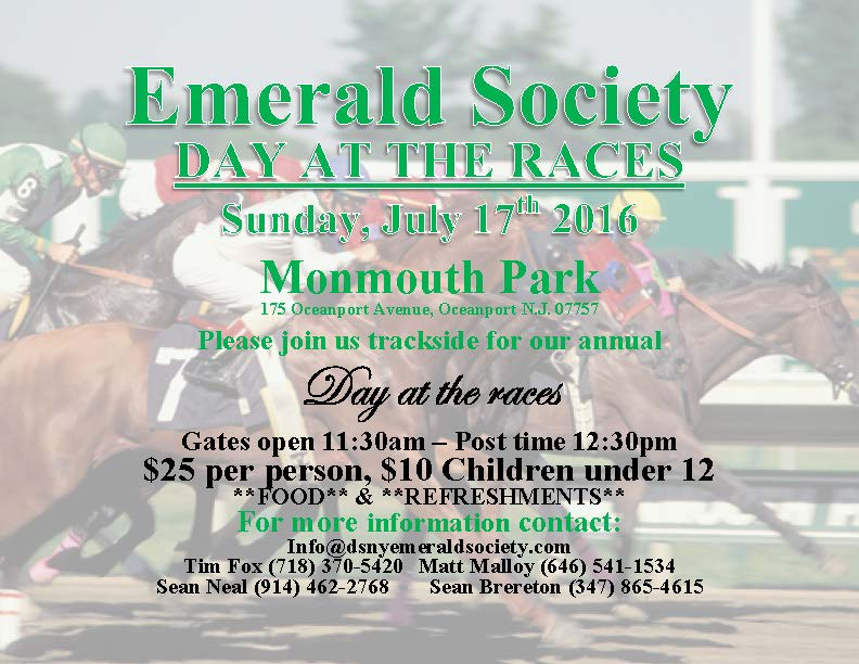 7-17-16 - Day At The Races - DSNY Emerald Society